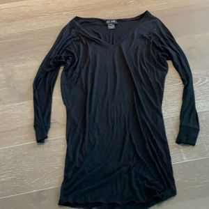 Jay Ahr Black Long Viscose Ladies Tunic Top Sz M